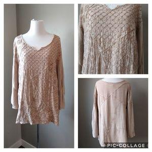 Sacred Threads Bohemian Long Sleeve Tunic Shirt XL